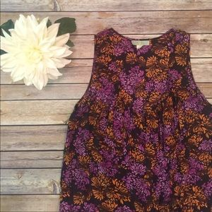 Anthropologie Lil Floral Tank Top